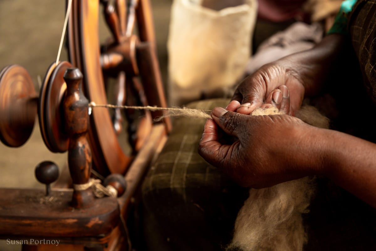 Catherine at Nanyuki Weavers & Spinners - - How to Experience More Beyond Kenya's Big Five