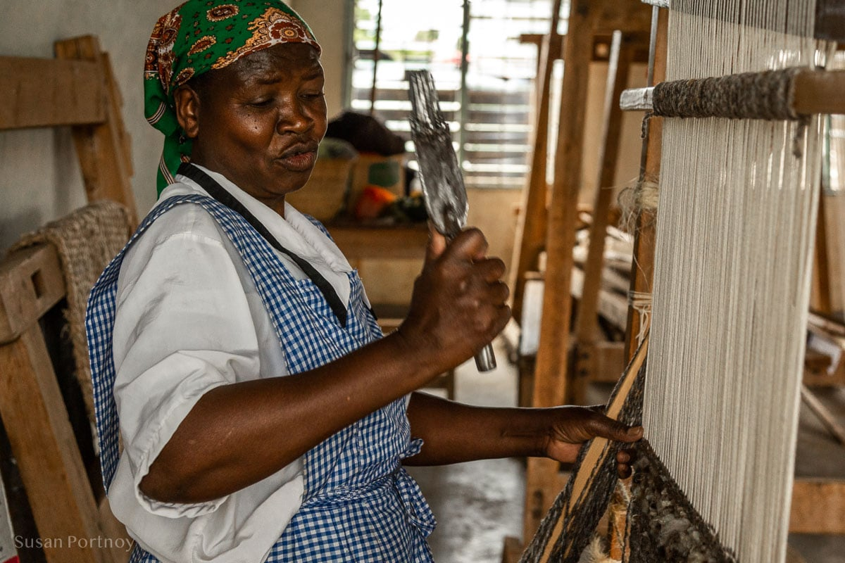 Claudia at Nanyuki Weavers & Spinners - - How to Experience More Beyond Kenya's Big Five
