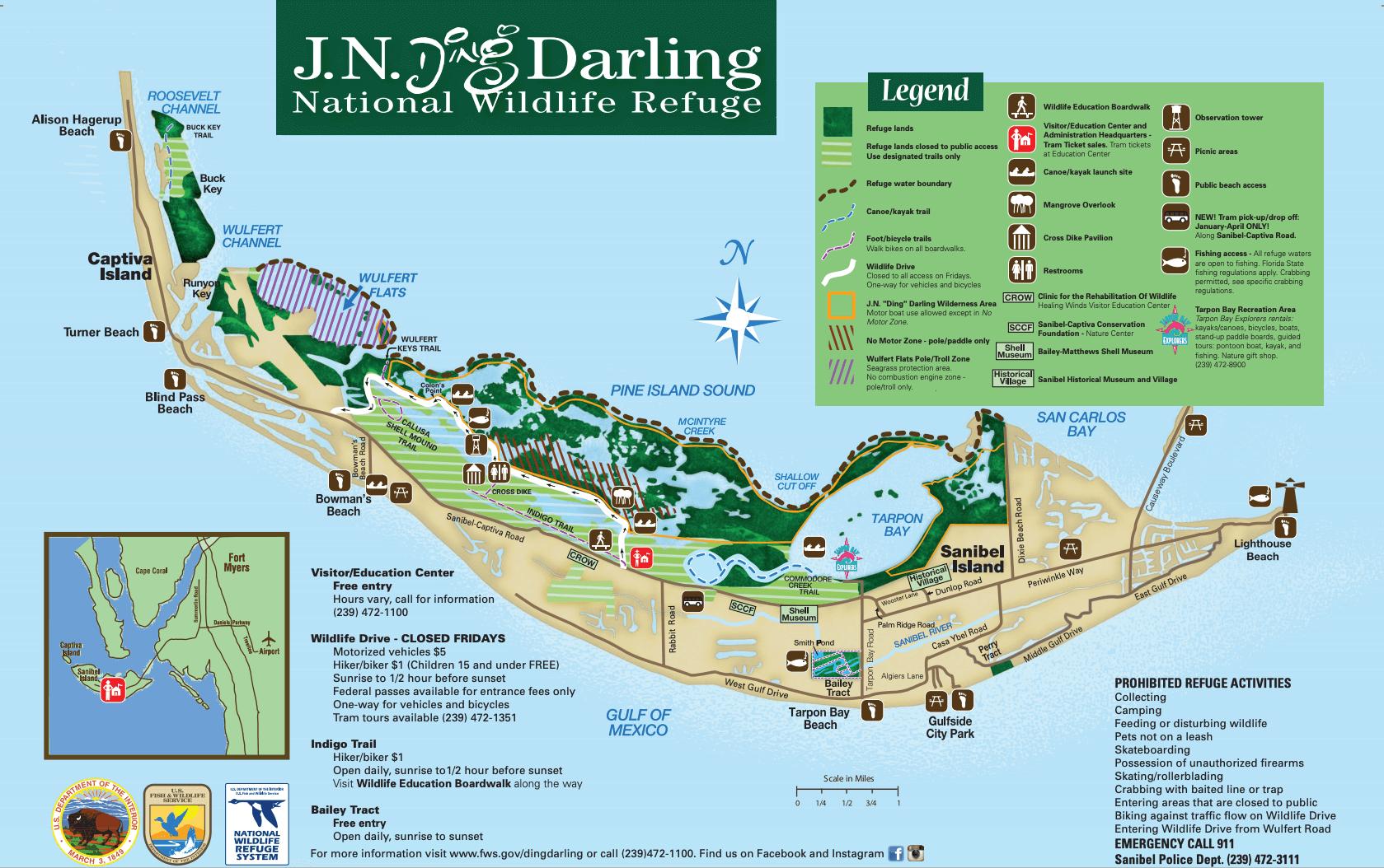 Ding Darling Map at 12.08.14 AM