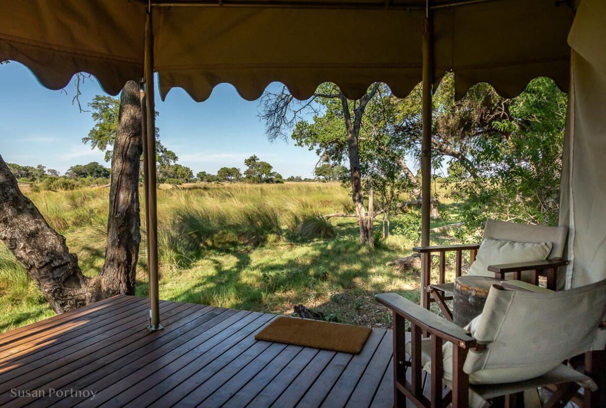 My private veranda at Duba Explorers Camp-