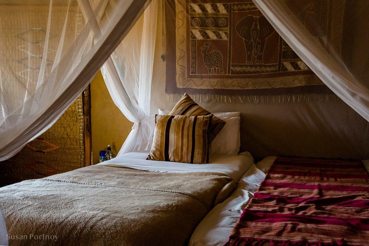 My bed at Umlani Bushcamp