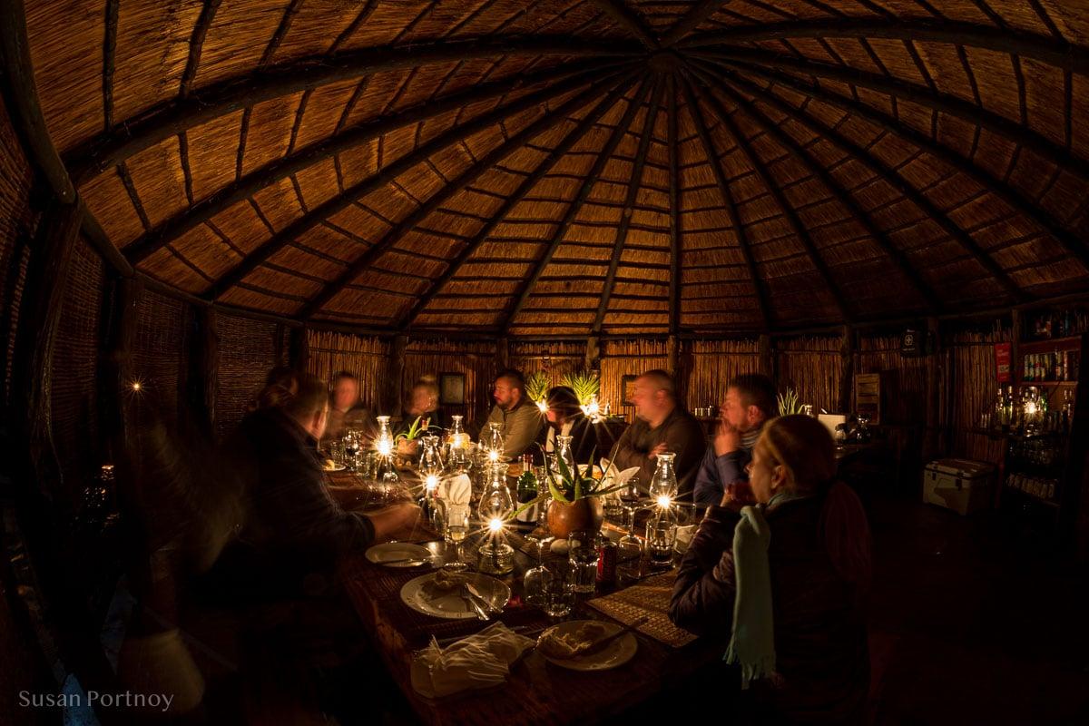 Dinner at Umlani Bushcamp