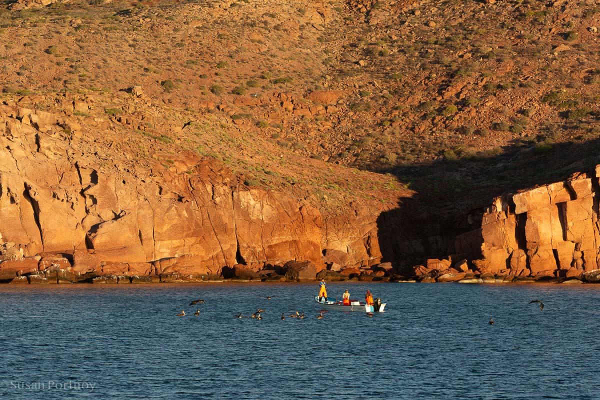 Fishermen near Isla San Francisquito in the Sea of Cortez