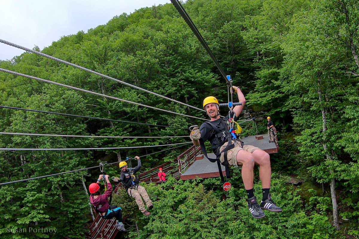Kevin from Zipline New York comes out to pull me in