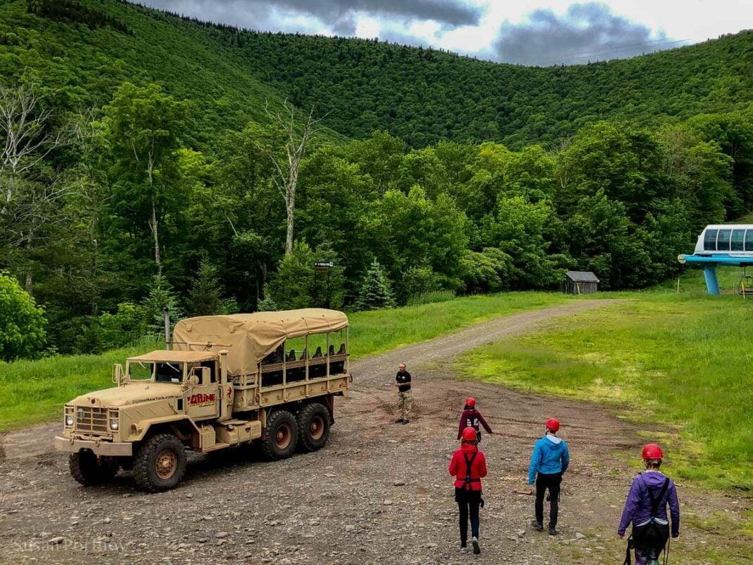 The Beast vehicle at Hunter Mountain Zipline