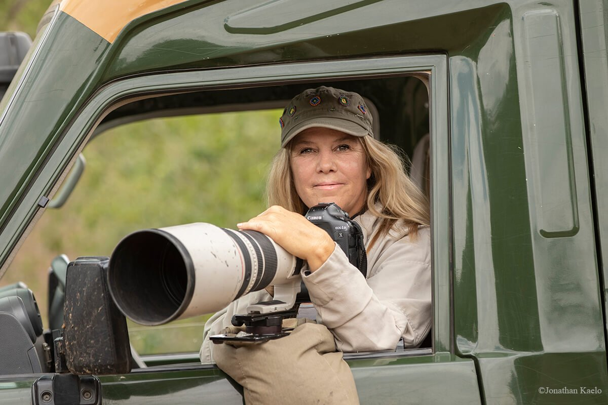 Piper Mackay - One of the great photo graphers on safari with guests in Africa.
