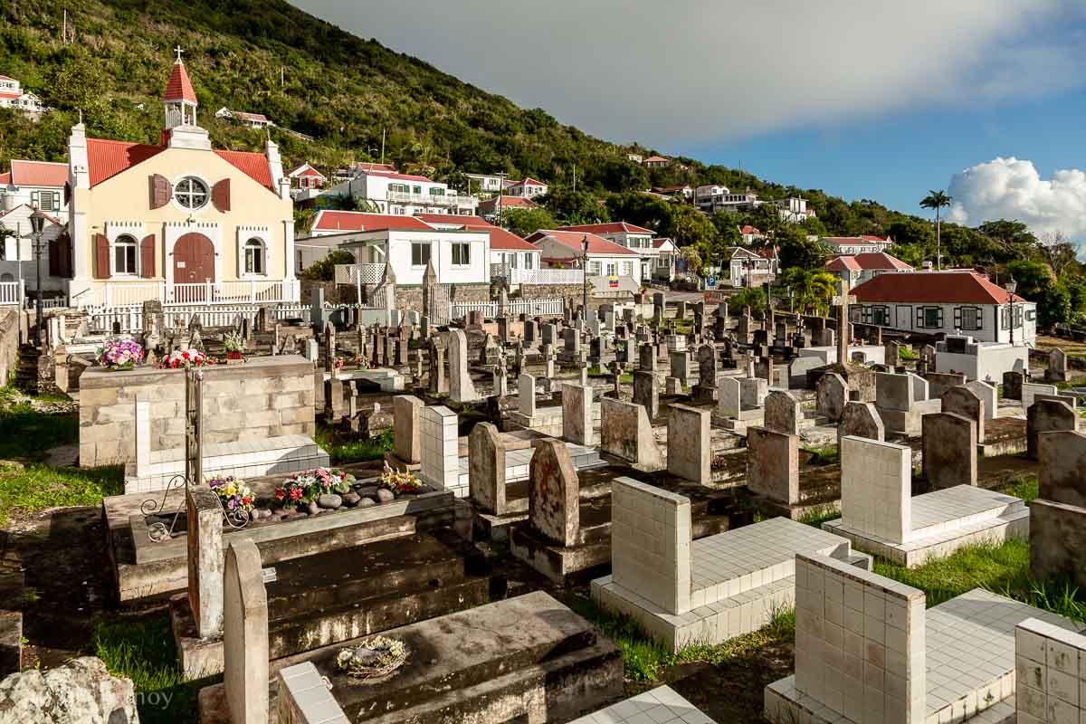 The cemetery in Windwardside on Saba Island