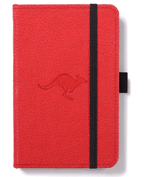 """Dingbats D5408R A6 Lined""""Wildlife Portrait Pocket Hardcover"""" Notebook - Red"""