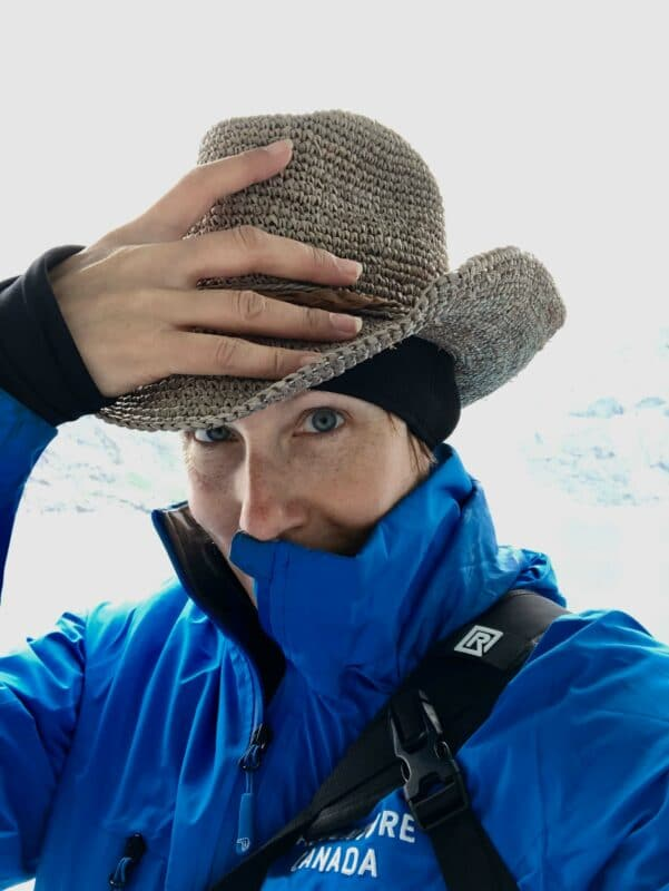 Susan Portnoy, The Insatiable Traveler wearing a Wallaroo Hat