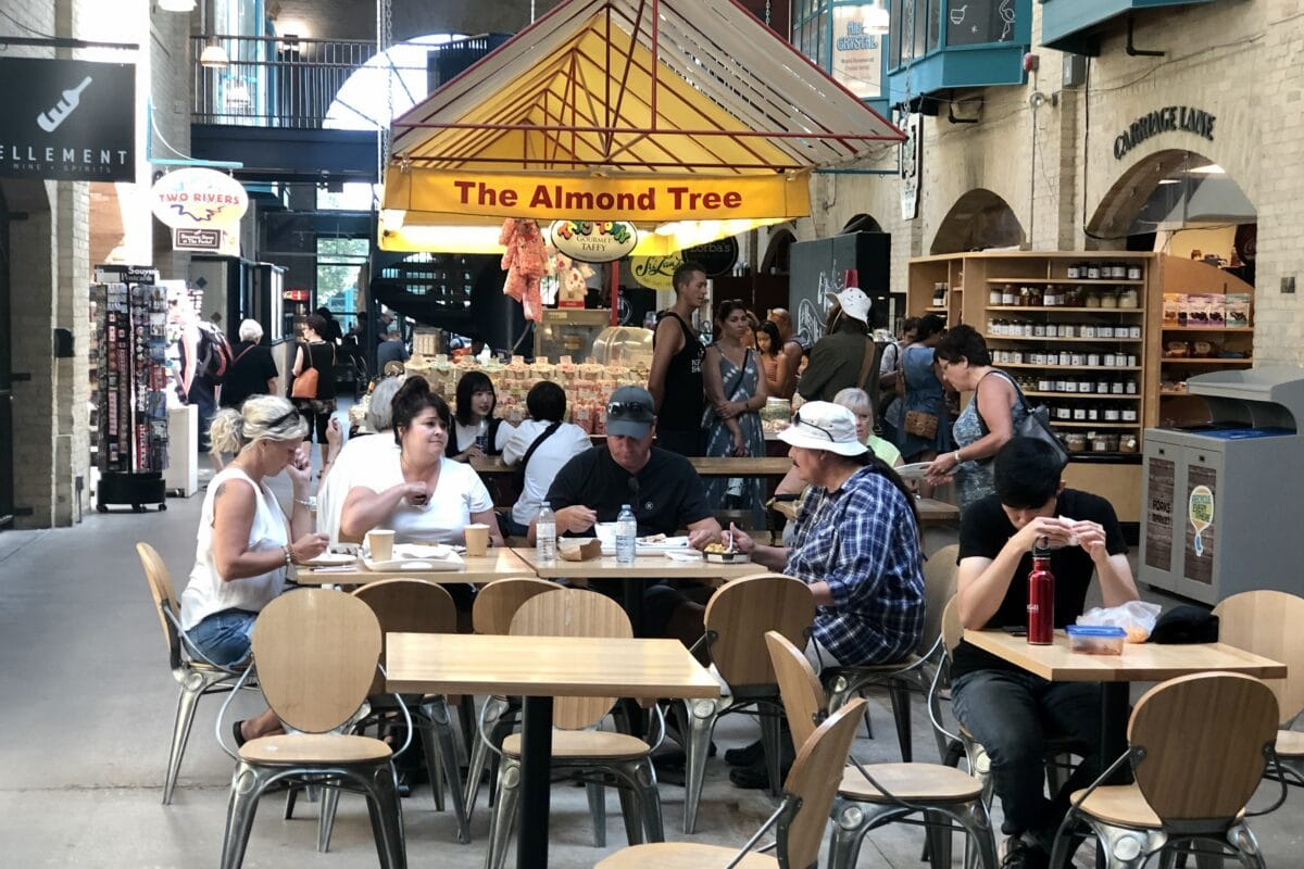 Local or visitor, one of the best things to do in Winnipeg Manitoba is visit the Food Court Inside The Forks.