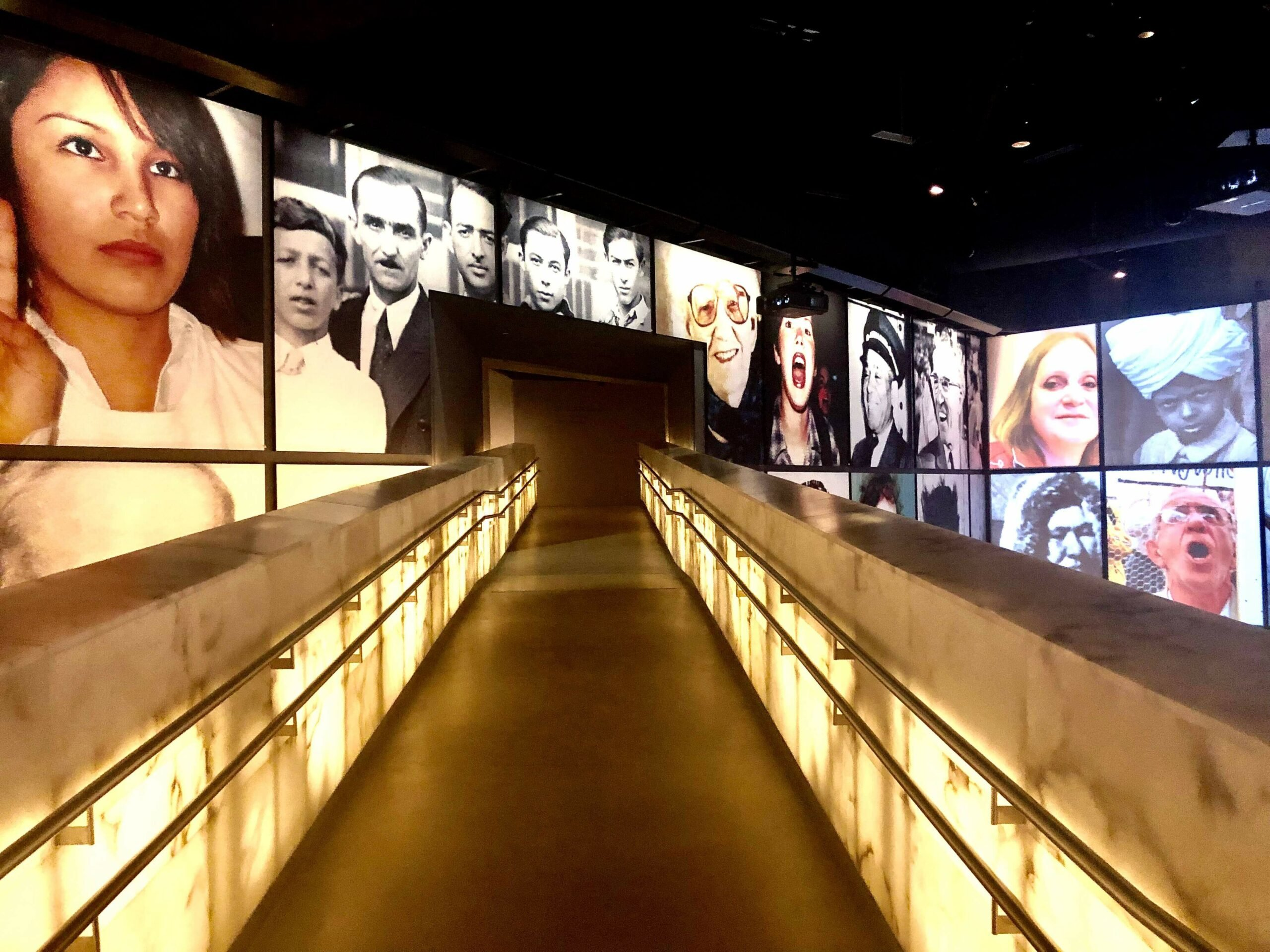 The alabaster walkway Inside the Museum of Human Rights in Winnipeg, Manitoba - a must-see.