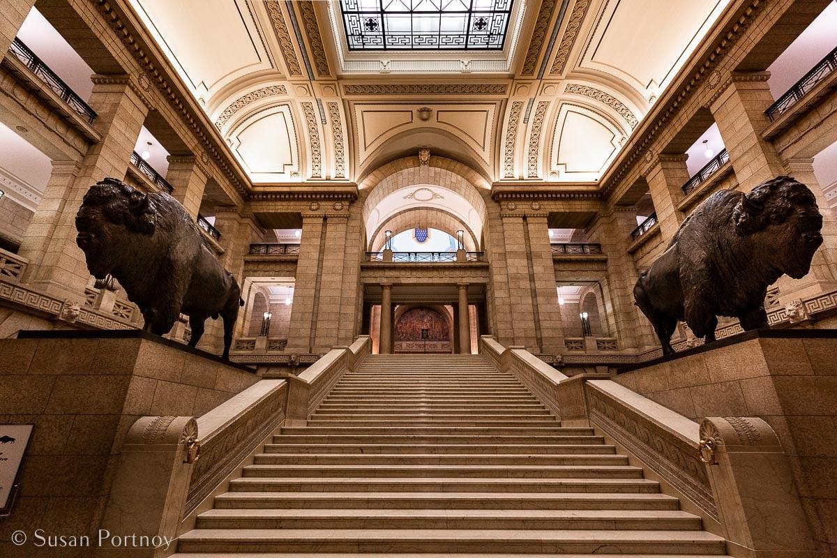 Inside the Manitoba Legislative Building where visitors can take Hermetic Code: Unlocking One of Manitoba's Greatest Secrets.
