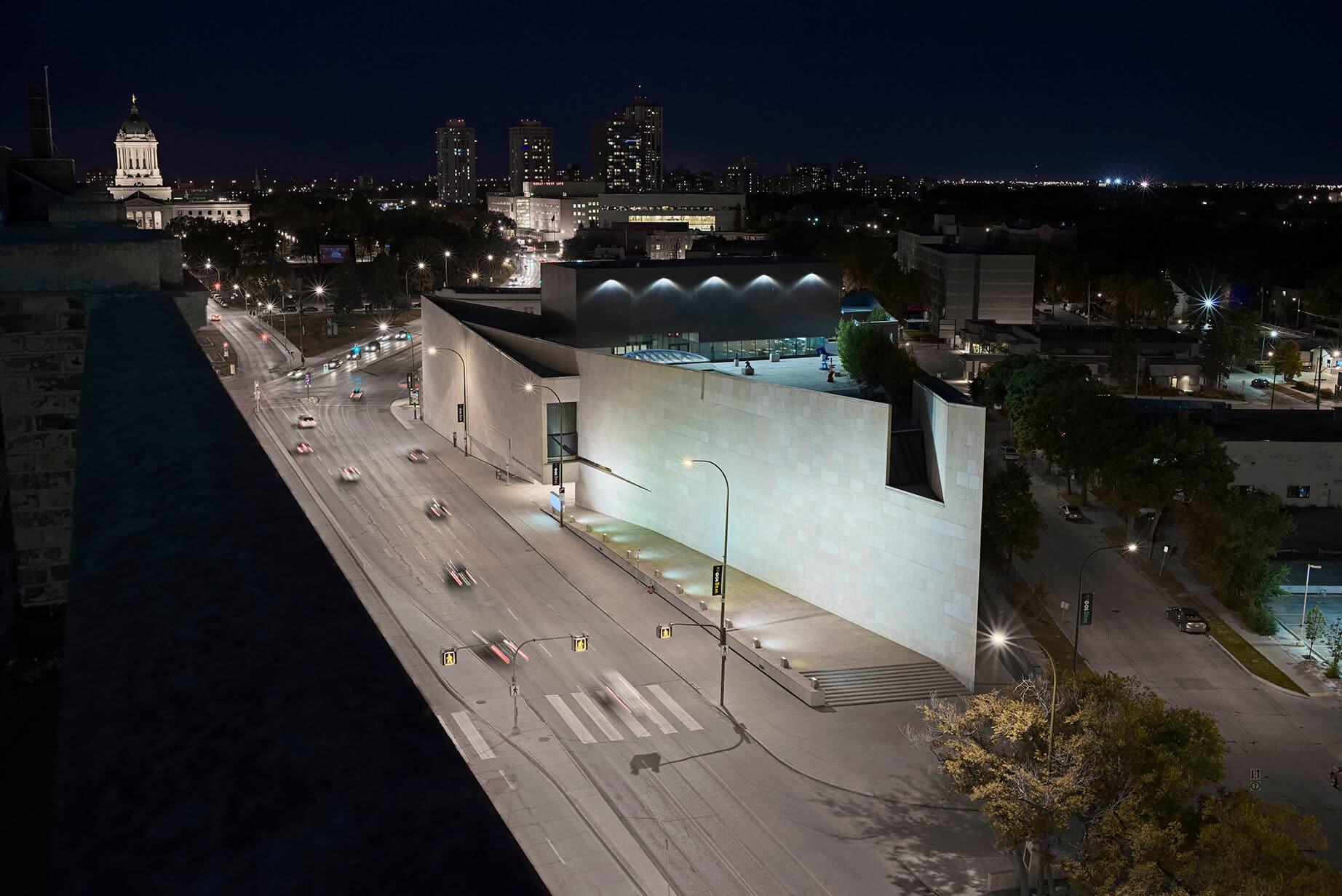Aerial view of the Winnipeg Art Gallery
