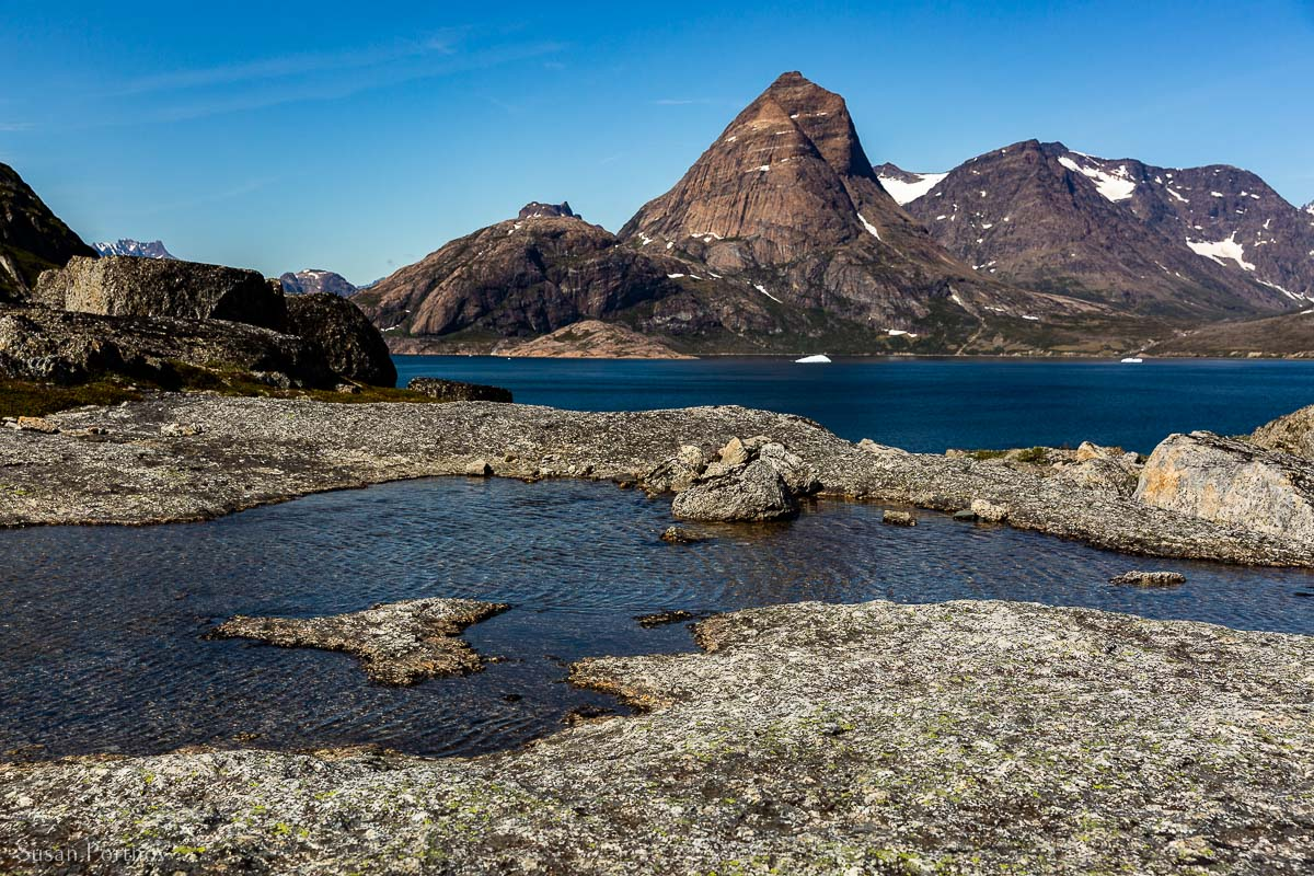 A gorgeous view from a shore hike in Prince Christian Sound