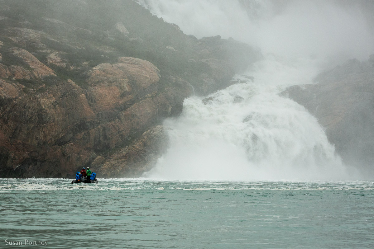 One of the many waterfalls in Western Greenland
