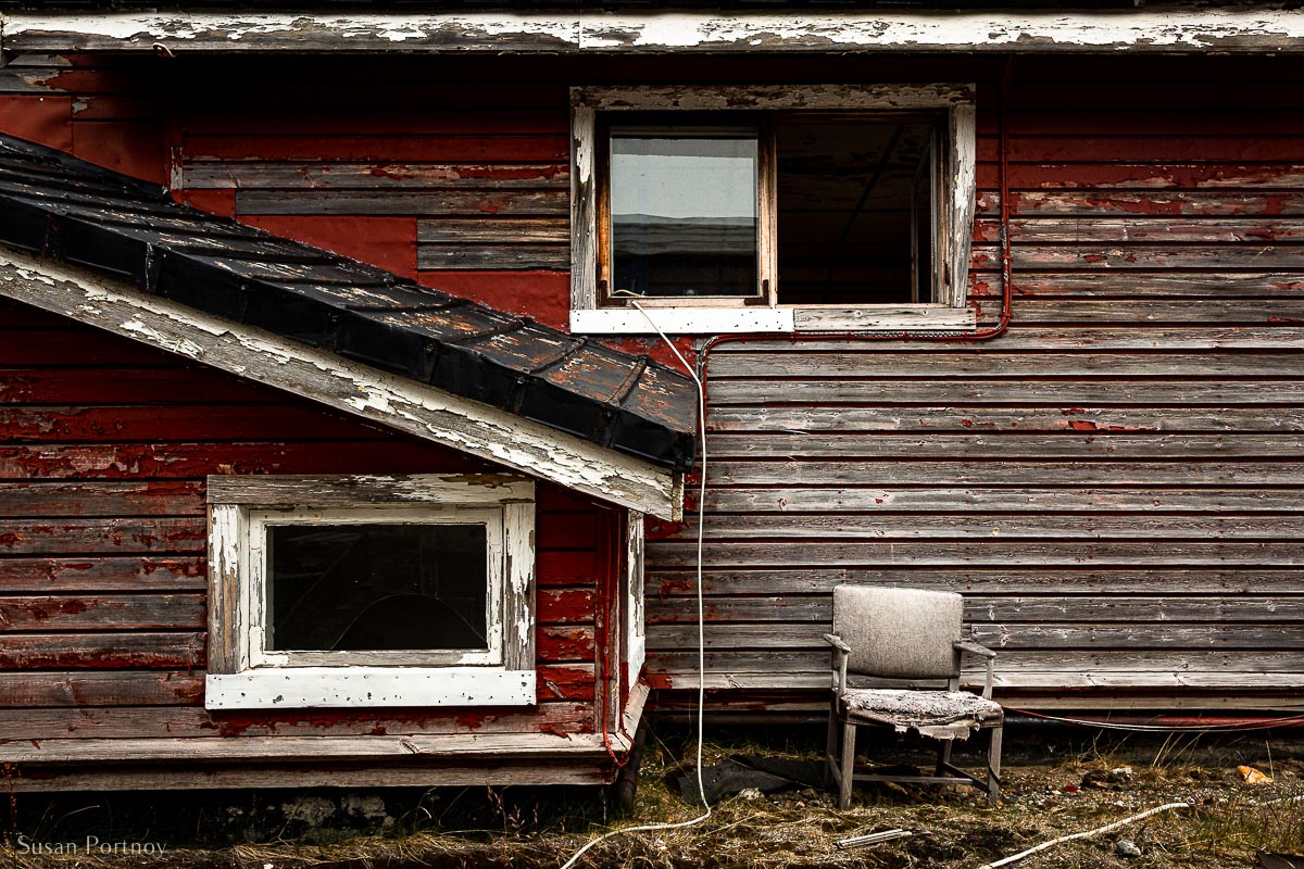 One of a few remaining abandoned homes at the Ivittuut mine