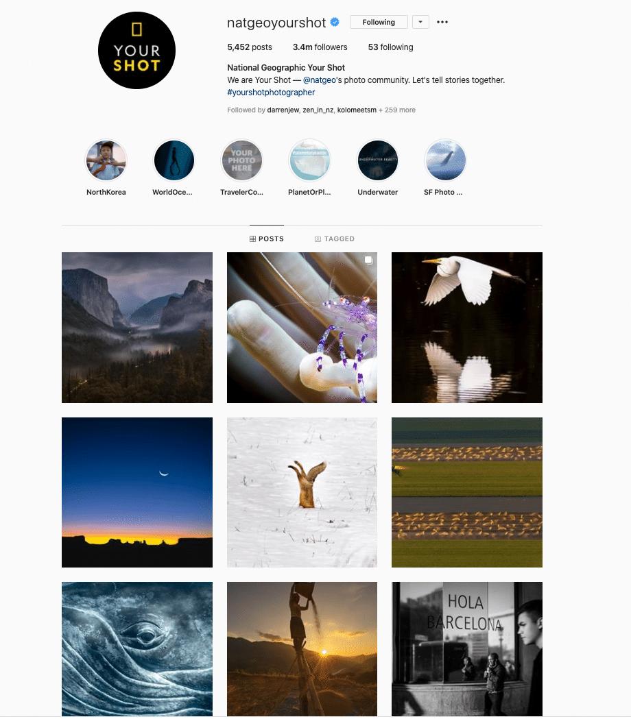 Nat Geo Your Shot Instagram Feed