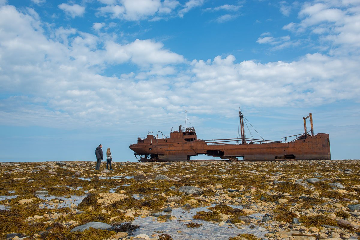 The wreck of the Ithaca in Churchill Manitoba, Canada