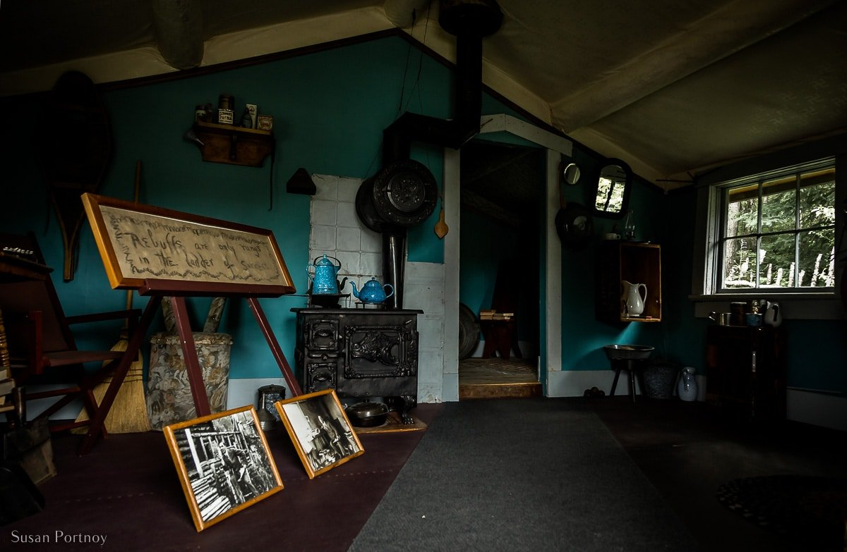 Inside the Cabin at Jack London Museum and Cabin in Dawson City