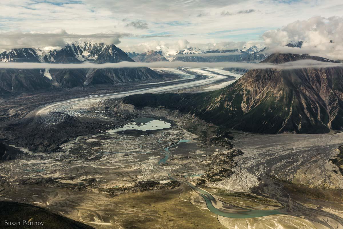 The toe of the Kaskawulsh glacier in Kluane National Park