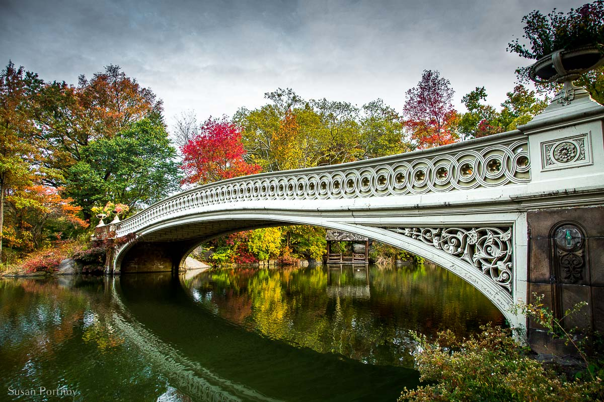 Bow Bridge in Central Park in Fall