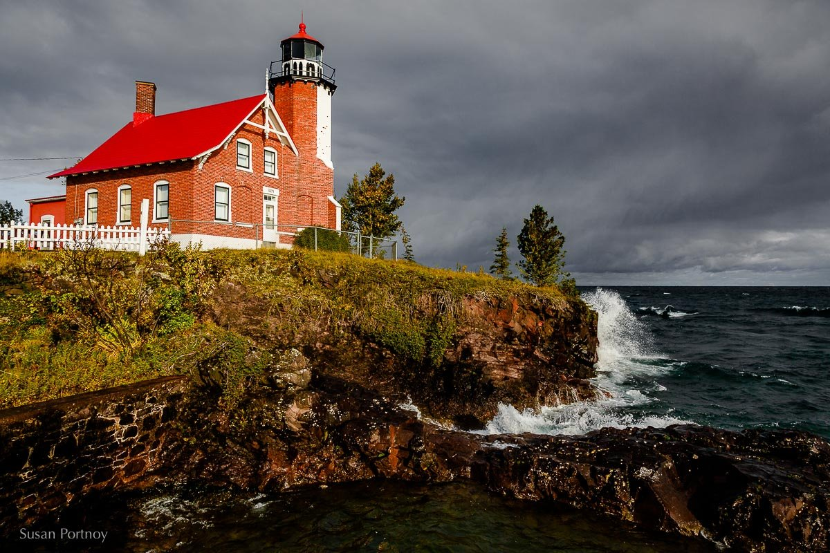 Eagle Harbor LIghthouse in Keweenaw County, Michigan