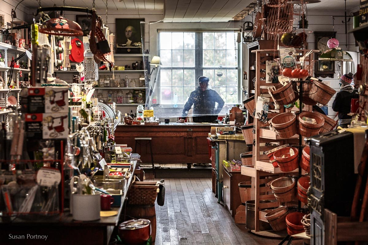 Inside the Old Country Store in Copper Harbor, Mi