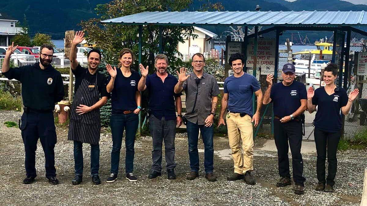The crew of Maple Leaf Adventures' Cascadia