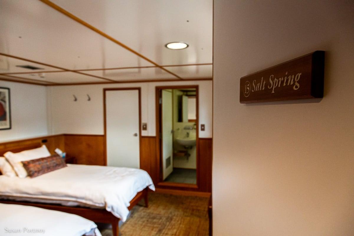 Salt Spring cabin aboard the Cascadia