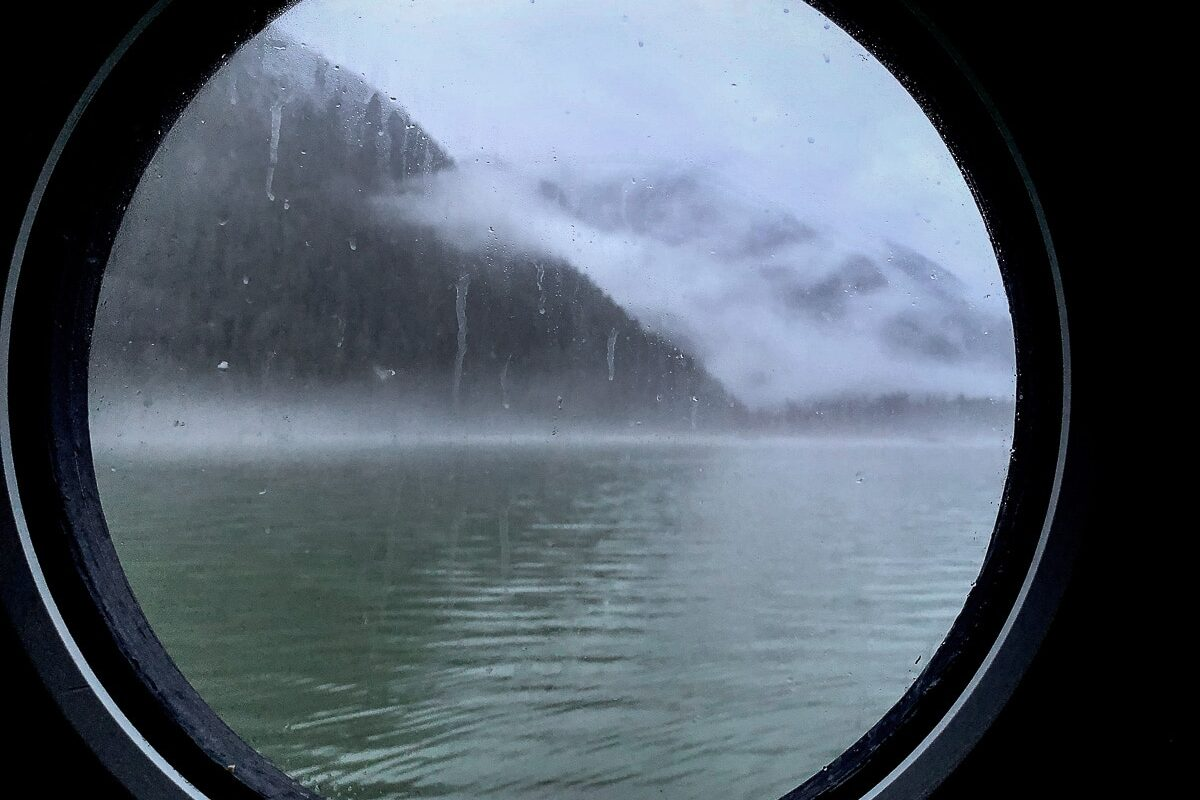 Looking out the porthole of the