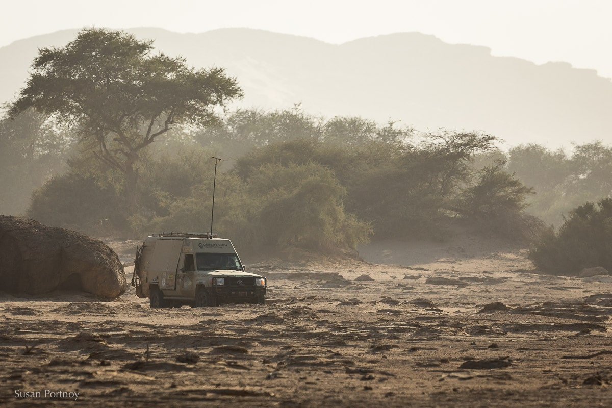 """Philip """"Flip"""" Stander's research mobile in Namibia"""