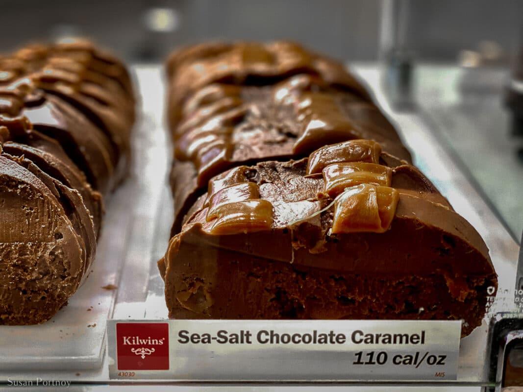 Sea salt and carmel fudge at Kilwins Factory in Petoskey, MI