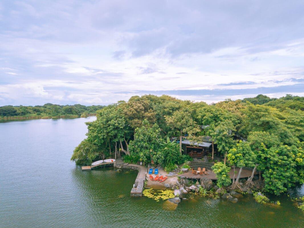 Aerial view of Jicaro Island Resort
