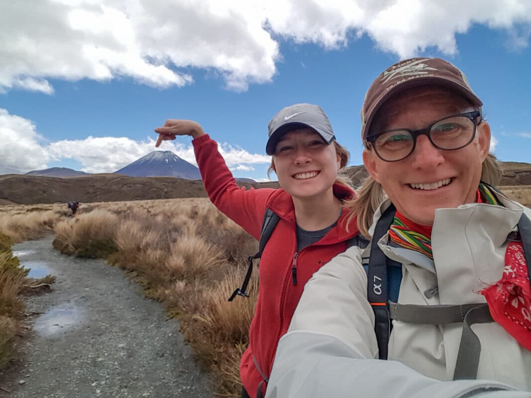 Sherry Ott with her niece in New Zealand on an Intrepid Travel sustainability tour