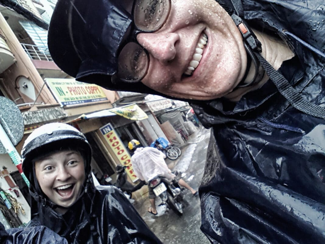 Sherry with her Niece in Vietnam on an Intrepid Travel Tour