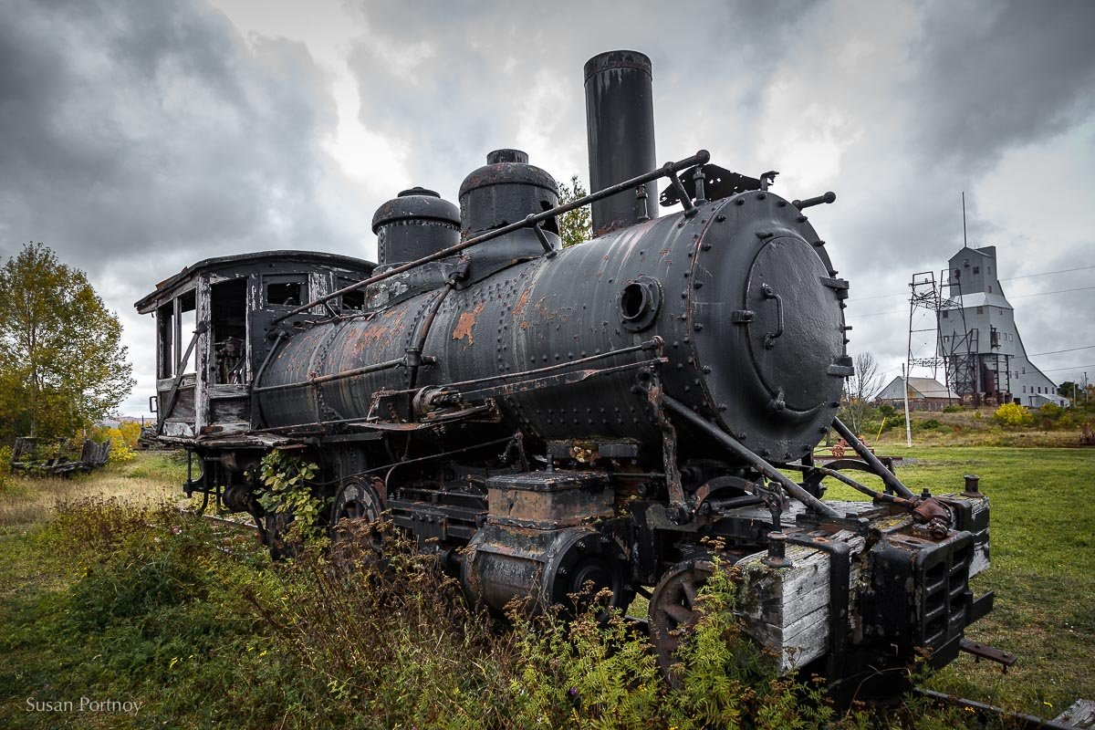 One of the old trains that used to haul cars full of copper,  Quincy Mine, Houghton, MI