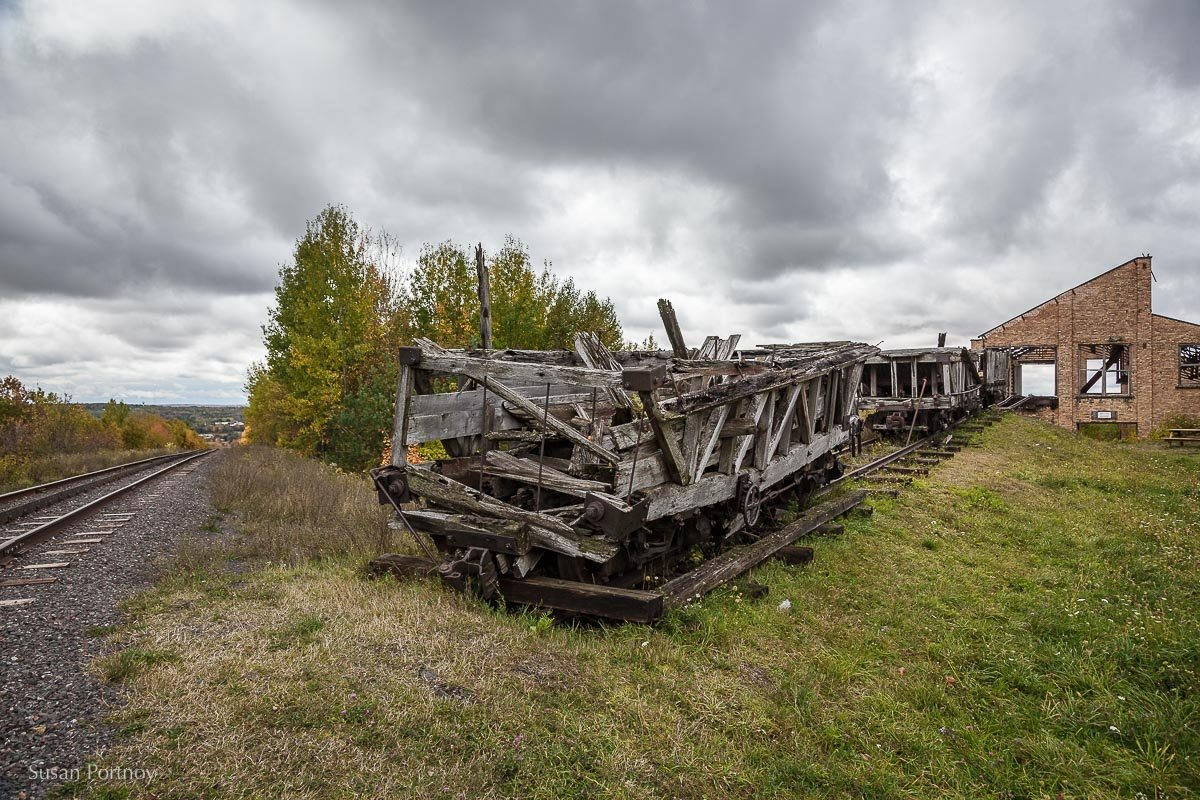 Old train cars at Quincy Mine, Houghton, MI
