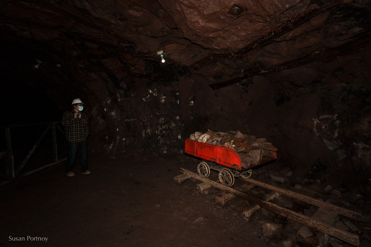 Inside the drift mine at Quincy Mine in Houghton, Mi