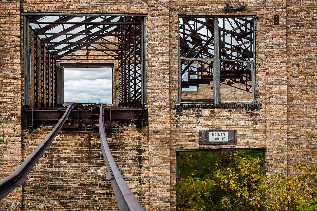 An old railroad track that transported cars filled with copper,Quincy MIne, Houghton, MI