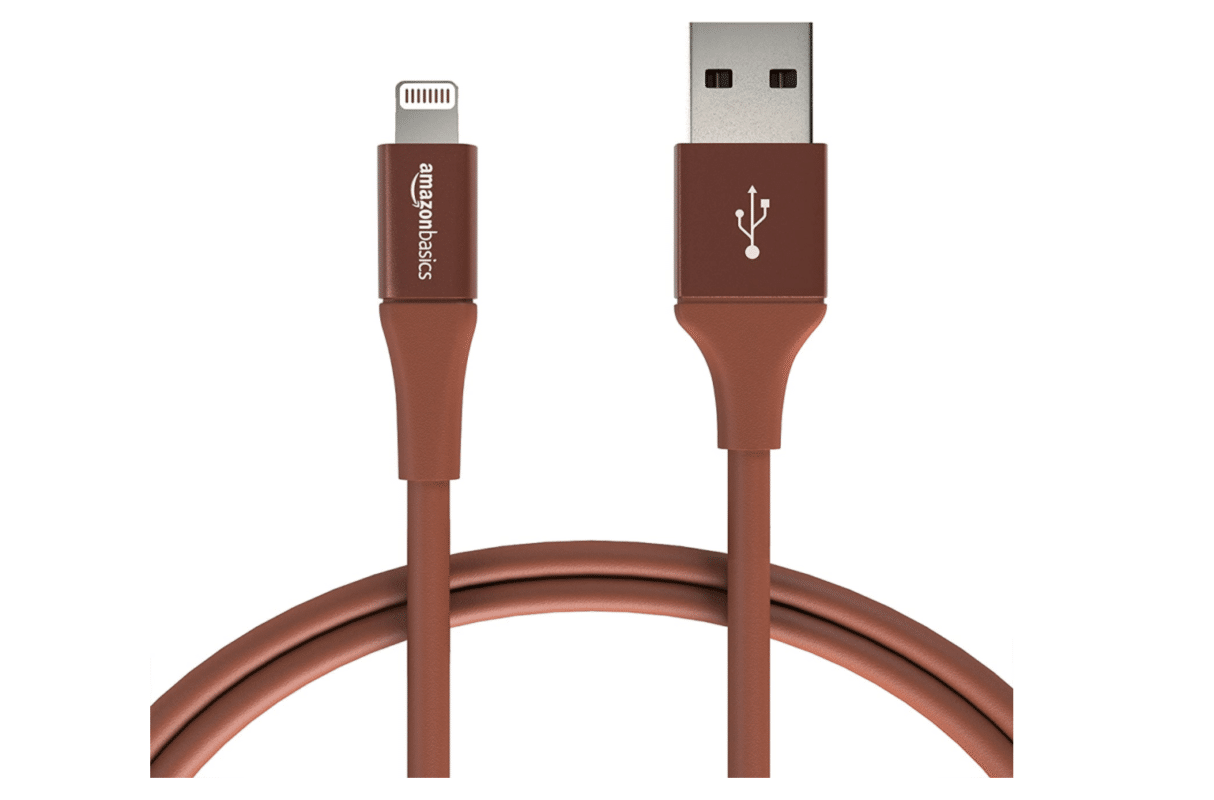A red iPhone charging cable is an essential component of a road trip packing list