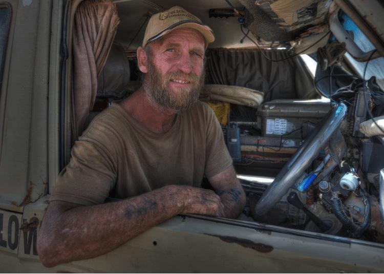 "Dr. Philip ""Flip"" Stander who studies the desert lions of Namibia"
