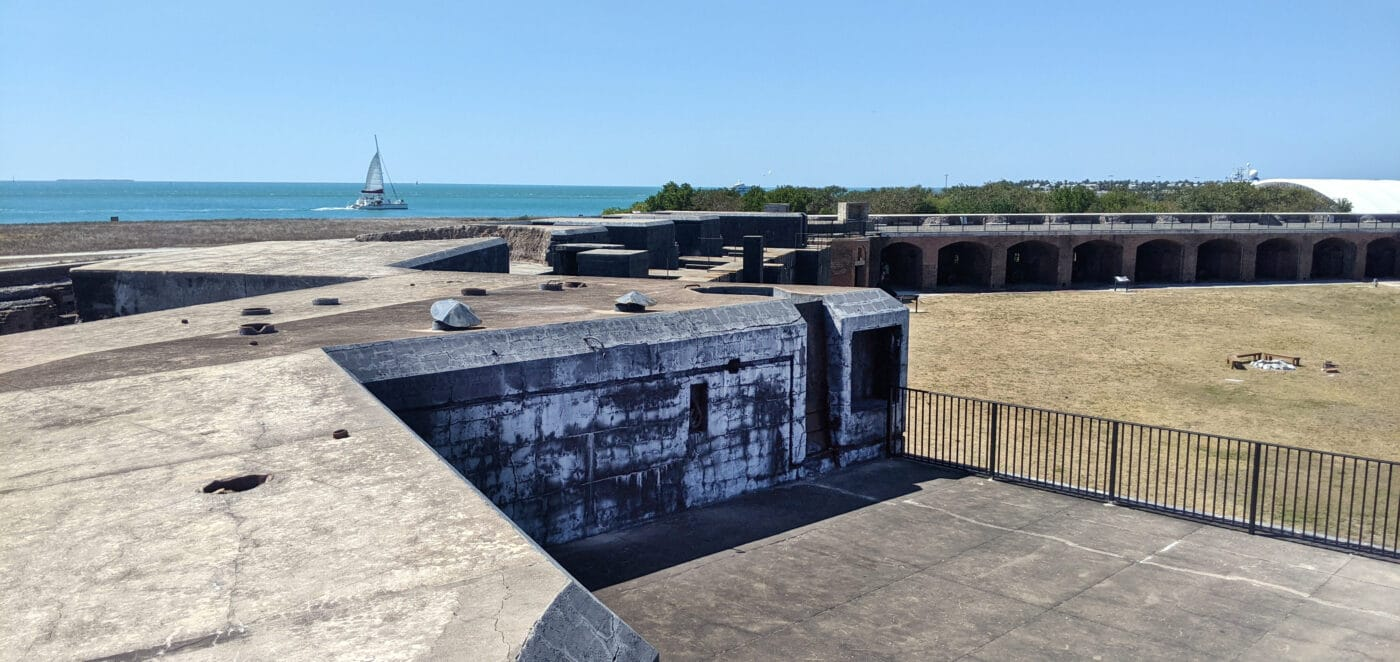 The top of Fort Zachary Taylor in Key West