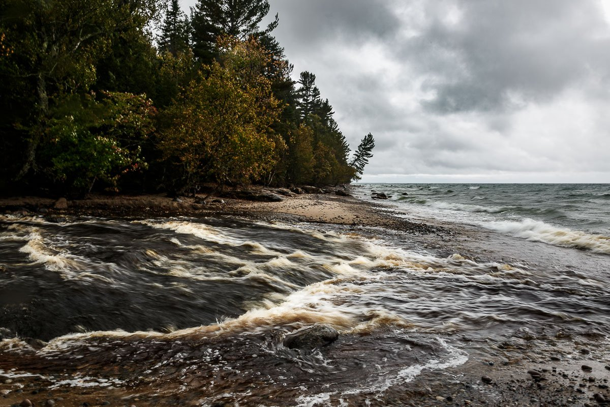 The water churning near Hurricane River Campgrounds, one of the Upper Peninsula's State Parks